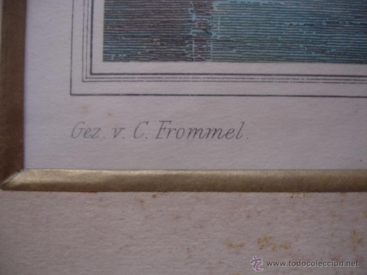 Arte: GRABADO A COLOR SIGLOXVII C.FROMMEL H WILKES SCULPT - Foto 4 - 43917041