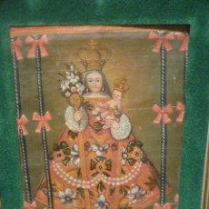 Arte: MAGNIFICA VIRGEN DE ESCUELA COLONIAL DEL S.XVIII. PROBABLEMENTE MEXICANA.. Lote 98742394
