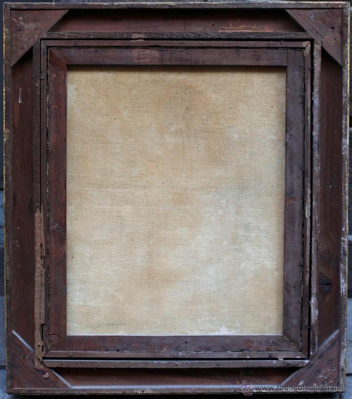 Arte: Santa Eulalia, óleo sobre lienzo antiguo, 55x66cm. marco moderno: 75x86 cm. - Foto 4 - 44066702