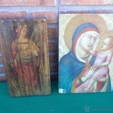 Arte: 2 LAMINAS RELIGIOSAS ICONO. Lote 44112980