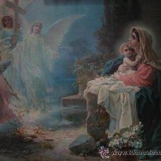Arte: ESTAMPA PARA ENMARCAR - SIGLO XIX -CROMOLITOGRAFIA - 51 X 63 CM.VIRGEN MARIA CON EL NIÑO JESUS. Lote 44322282