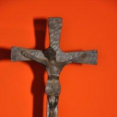 Arte: CRISTO ESCULTURA REALIZADA EN HIERRO DE 1950 APROX.. Lote 44374015