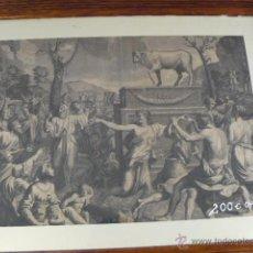 Kunst - MAGNIFICO GRABADO LA ADORACION DEL BECERRO DE ORO - 44380226