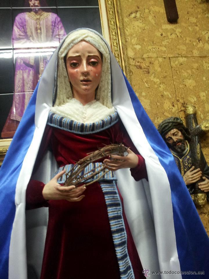 Arte: Virgen dolorosa de 90 ctm sin vestir - Foto 2 - 44427226