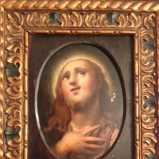 Arte: PINTURA ANTIGUA, SAN JUAN BAUTISTA, ECCE HOMMO, OLEO SOBRE COBRE, ENMARCADO SIGLO XVII, XVIII. Lote 44451815