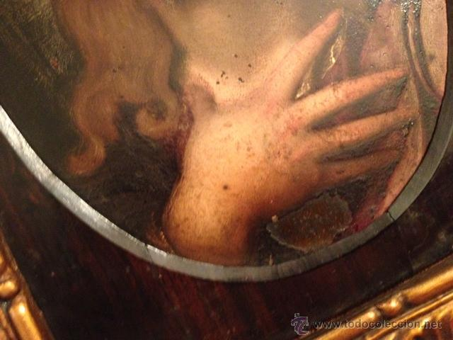Arte: PINTURA ANTIGUA, SAN JUAN BAUTISTA, ECCE HOMMO, OLEO SOBRE COBRE, ENMARCADO SIGLO XVII, XVIII - Foto 4 - 44451815