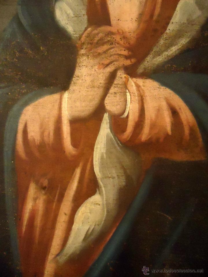 DULCISIMA VIRGEN DOLOROSA OLEO SOBRE LIENZO S.XVIII (Arte - Arte Religioso - Pintura Religiosa - Oleo)
