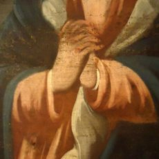 Arte: DULCISIMA VIRGEN DOLOROSA OLEO SOBRE LIENZO S.XVIII. Lote 44465725