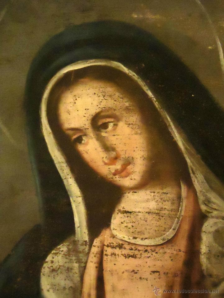 Arte: DULCISIMA VIRGEN DOLOROSA OLEO SOBRE LIENZO S.XVIII - Foto 3 - 44465725
