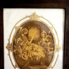 Arte: MARAVILLOSO GRABADO DEL NACIMIENTO DEL NIÑO JESÚS, FINALES DEL XIX,ANGELES. Lote 44656181