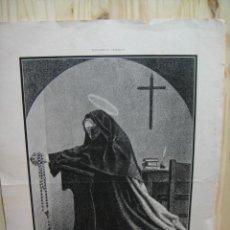 Arte: LITOGRAFIA SUPLEMENTO ARTISTICO - SANTA TERESA DE JESUS. Lote 44904238