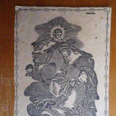 Arte: MAGNIFICO GRABADO 1800 - 1900 SANTA ROSA DE LIMA VIRGEN , ORIGINAL DE LA EPOCA MINIATURA 9 X 6,2 CM . Lote 44934503