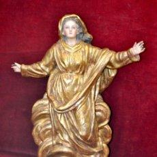 Arte: IMPORTANTE VIRGEN BARROCA (1750-1770) EN TERRACOTA POLICROMADA. Lote 44953884