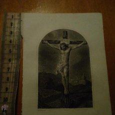 Arte: ANTIGUO GRABADO , CRISTO CRUCIFICADO . Lote 45043722