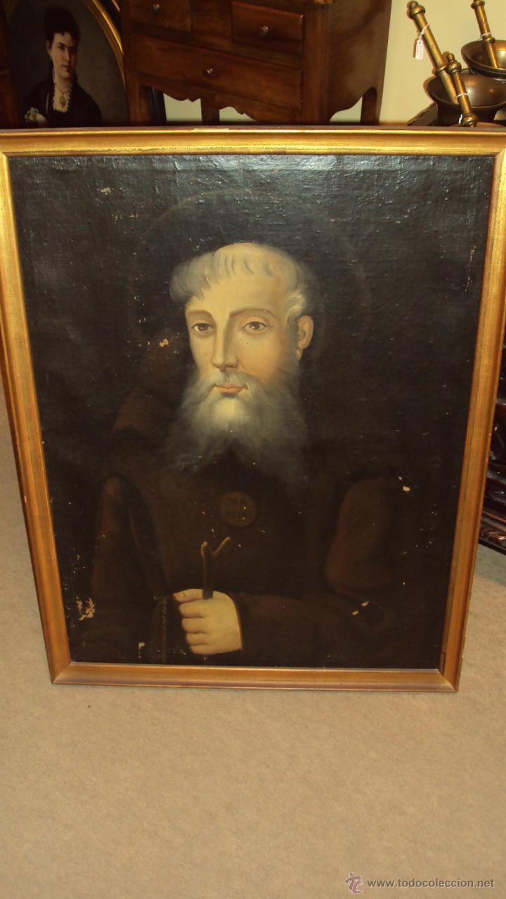 OLEO SOBRE LIENZO DE SAN FRANCISCO DE PAULA (Arte - Arte Religioso - Pintura Religiosa - Oleo)