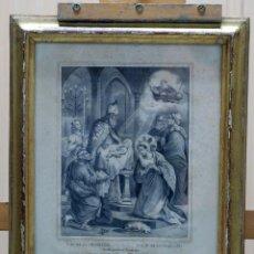 Arte: GRABADO NUESTRA SEÑORA DE LA CANDELARIA DE ALTA GRACIA AREQUIPA PIERRE CHENUN FRANCIA 1730. Lote 45067803