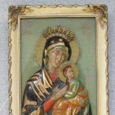 Arte: RARISIMO ICONO ART DECO.VIRGEN DEL PERPETUO SOCORRO. CELULOIDE. 1920. ESTE DE EUROPA. Lote 45106899
