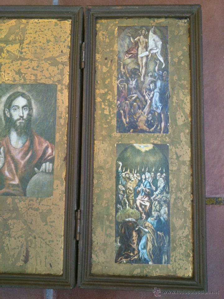Arte: TRIPTICO RELIGIOSO SOBRE BASE DECORADA - Foto 3 - 45127483