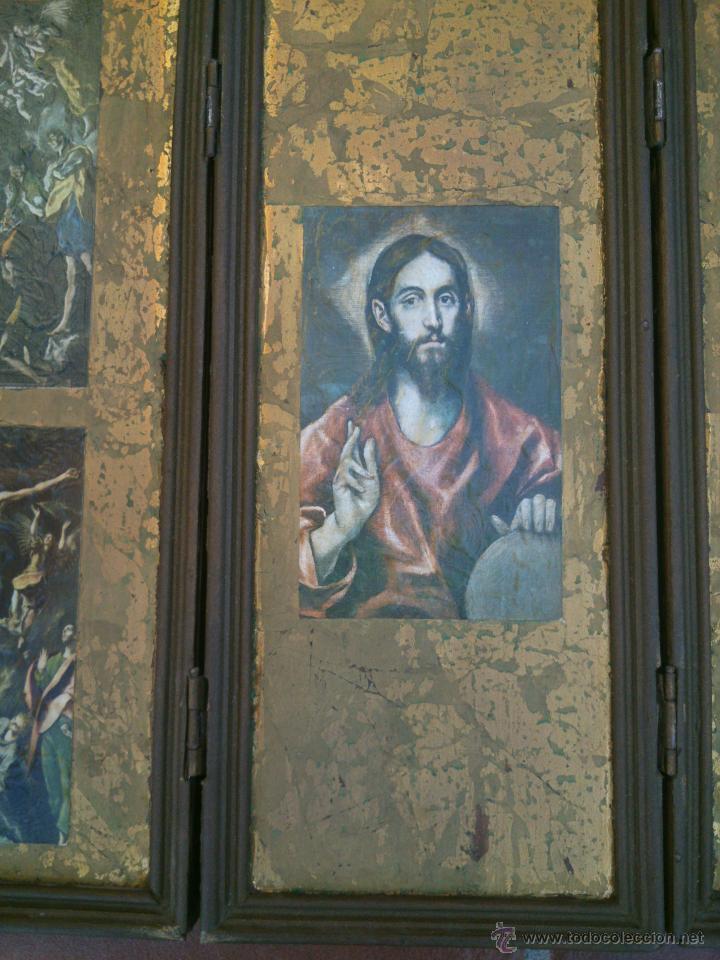 Arte: TRIPTICO RELIGIOSO SOBRE BASE DECORADA - Foto 4 - 45127483