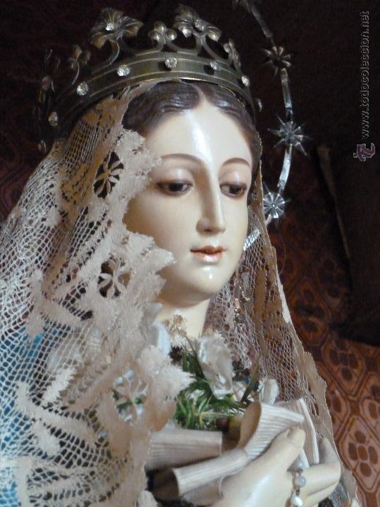 VIRGEN INMACULADA CAP Y POTA S XIX (Arte - Arte Religioso - Escultura)