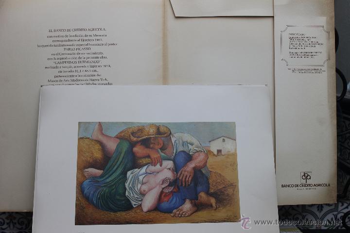 Arte: LITOGRAFIA PABLO PICASSO CAMPESINOS DURMIENDO Nº 188 DE 250, BANCO DE CREDITO AGRICOLA 1981 - Foto 4 - 45143788