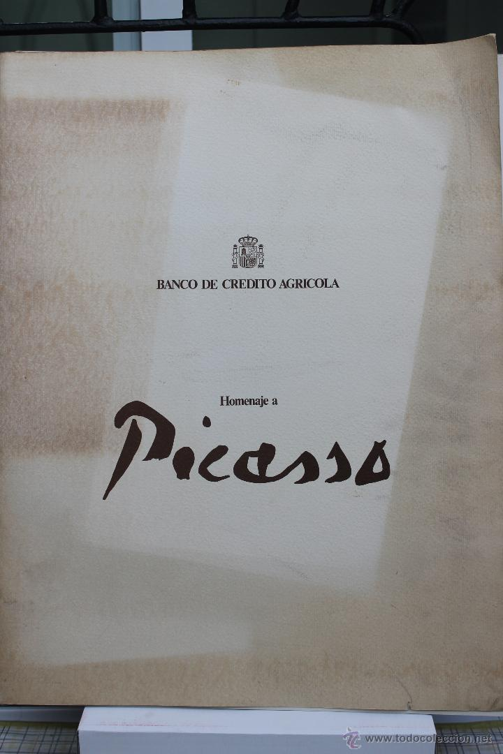 Arte: LITOGRAFIA PABLO PICASSO CAMPESINOS DURMIENDO Nº 188 DE 250, BANCO DE CREDITO AGRICOLA 1981 - Foto 6 - 45143788
