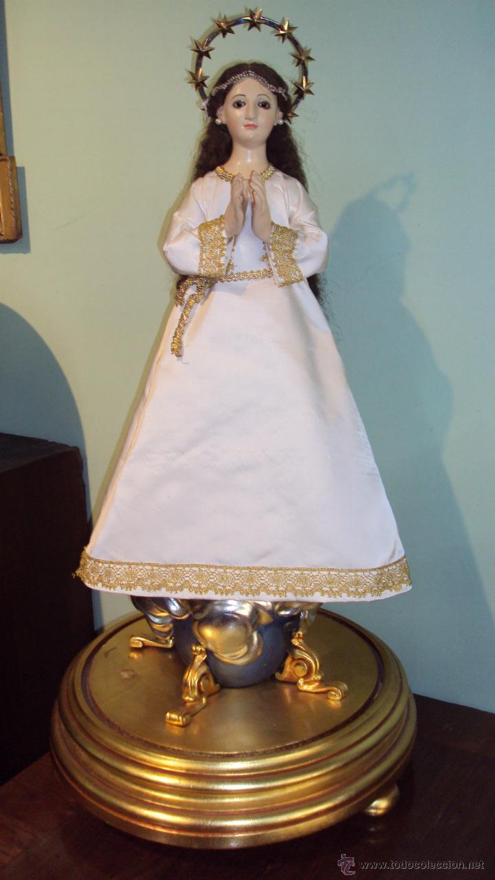 ESCULTURA EN MADERA VIRGEN INMACULADA CAP I POTA XIX (Arte - Arte Religioso - Escultura)