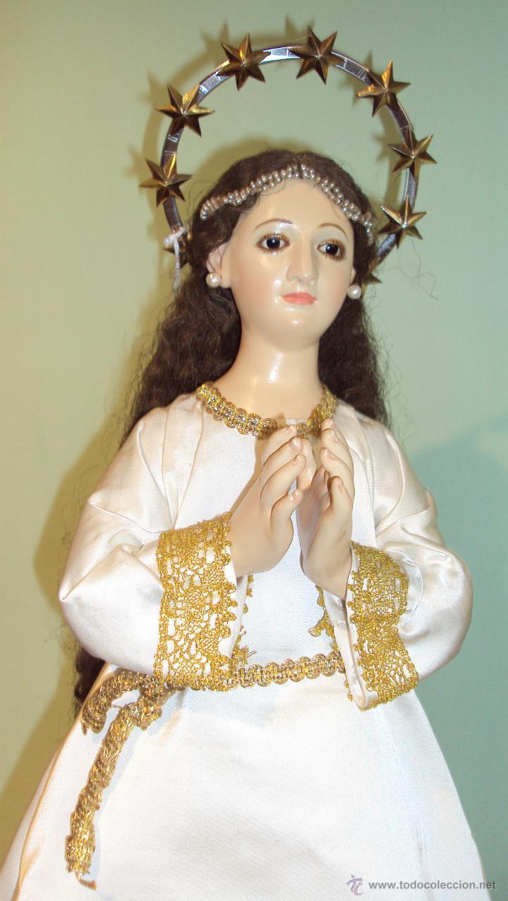 Arte: Escultura en Madera Virgen Inmaculada Cap i Pota XIX - Foto 2 - 45149361
