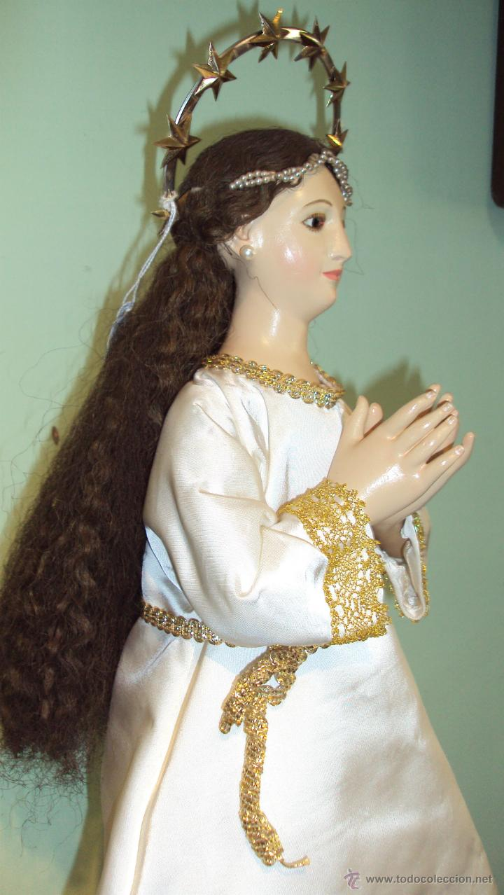 Arte: Escultura en Madera Virgen Inmaculada Cap i Pota XIX - Foto 4 - 45149361