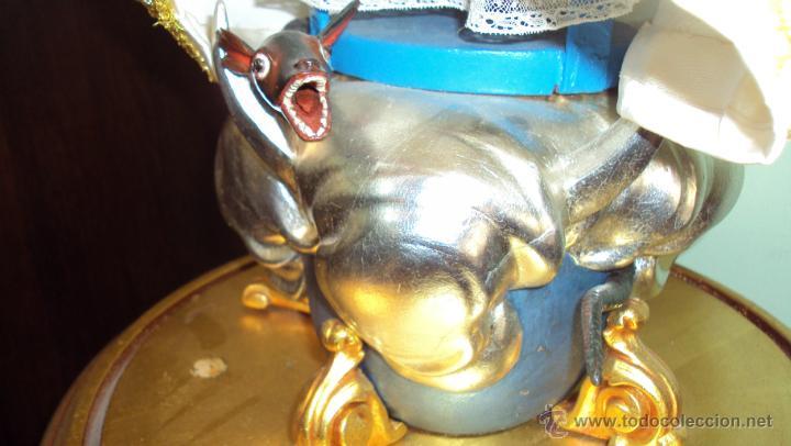 Arte: Escultura en Madera Virgen Inmaculada Cap i Pota XIX - Foto 7 - 45149361