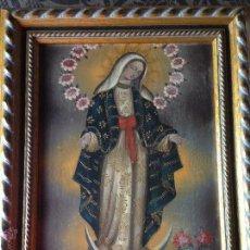 Arte: CUADRO A OLEO PINTURA VIRGEN ESTILO CUZQUEÑO. Lote 45330190