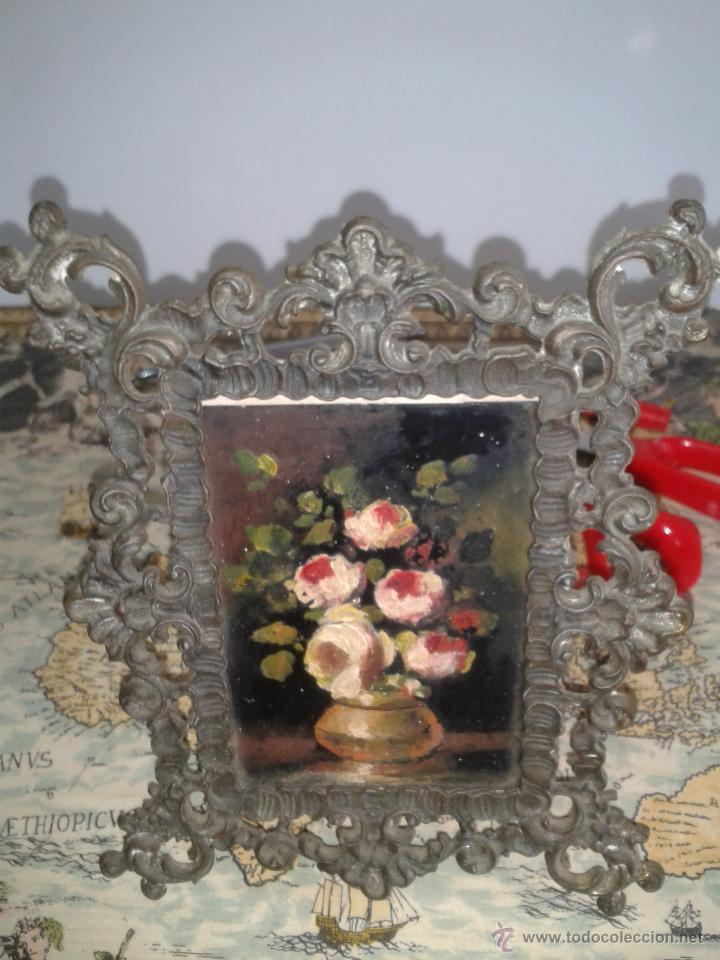 Arte: Oleo sobre cristal y marco de hierro - Foto 2 - 74097063