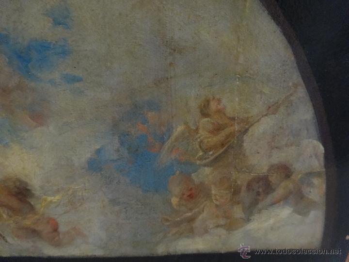 Arte: ÓLEO SOBRE PAPEL ADHERIDO A TABLA WSSEL ALEGORÍA A LA VIRGEN SIGLO XIX- XX - 1000-014 - Foto 8 - 43425175