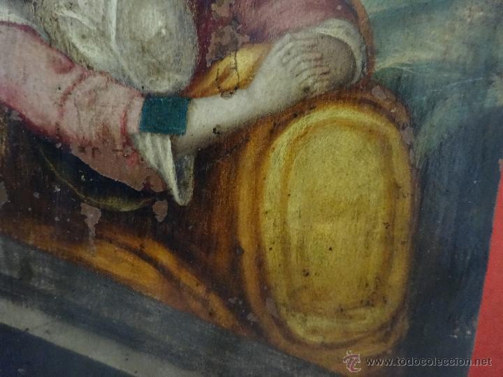 Arte: ÓLEO SOBRE COBRE Mª MAGDALENA EN EL SEPULCRO SIGLO XVI - 1000-024 - Foto 9 - 43107522