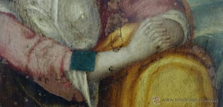 Arte: ÓLEO SOBRE COBRE Mª MAGDALENA EN EL SEPULCRO SIGLO XVI - 1000-024 - Foto 10 - 43107522