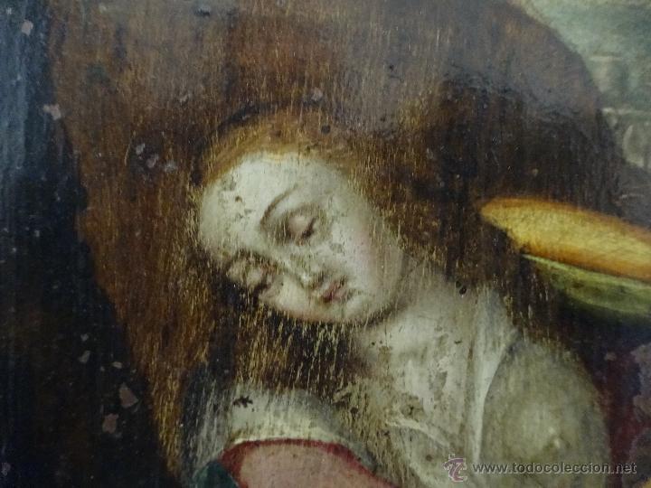 Arte: ÓLEO SOBRE COBRE Mª MAGDALENA EN EL SEPULCRO SIGLO XVI - 1000-024 - Foto 11 - 43107522