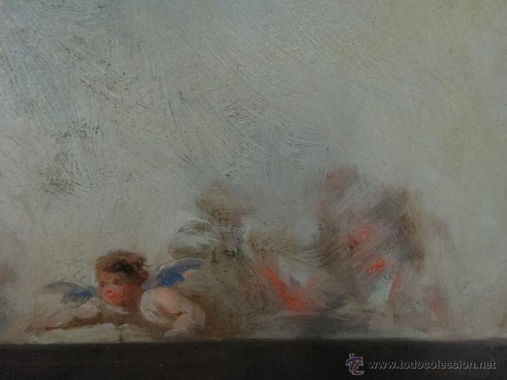 Arte: ÓLEO SOBRE PAPEL BOCETO DE TEMA RELIGIOSO CON ALEGORÍA DE LA VIRGEN - 1000-020 - Foto 7 - 43428503