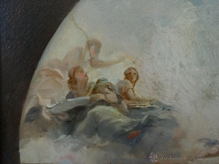 Arte: ÓLEO SOBRE PAPEL BOCETO DE TEMA RELIGIOSO CON ALEGORÍA DE LA VIRGEN - 1000-020 - Foto 8 - 43428503