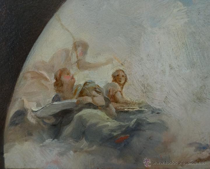 Arte: ÓLEO SOBRE PAPEL BOCETO DE TEMA RELIGIOSO CON ALEGORÍA DE LA VIRGEN - 1000-020 - Foto 9 - 43428503