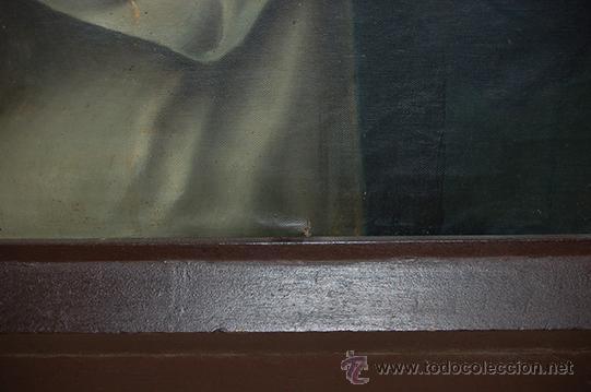 Arte: Arte Pintura 70.5x96 modernista Santa Immaculada con marco 107x134x5 Defecto:Trocito pintura desgar - Foto 2 - 45471709