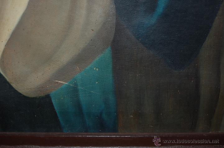 Arte: Arte Pintura 70.5x96 modernista Santa Immaculada con marco 107x134x5 Defecto:Trocito pintura desgar - Foto 4 - 45471709