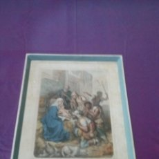 Arte: ARTE LITOGRAFIA ANTIGUA XIX ILUSTRACION ADORACION A LOS PASTORES L TURGIS. Lote 45489353