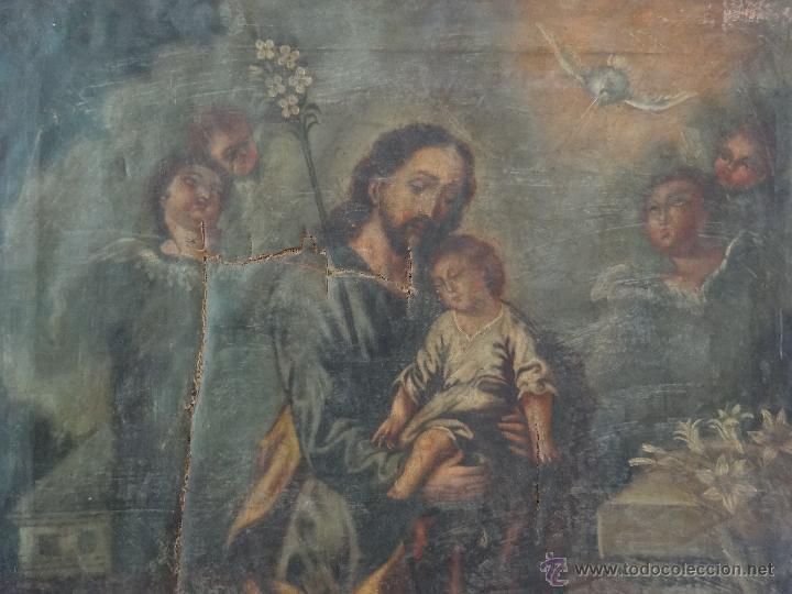 Arte: ÓLEO SOBRE LIENZO SAN JOSÉ CON NIÑO SIGLO XVIII - 1000-066 - Foto 14 - 43145250