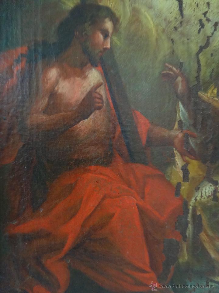 Arte: ÓLEO SOBRE LIENZO TRINIDAD ATRIBUIDO A J. ANTONIO ZAPATA Y NADAL 1762-1837 - 1000-071 - Foto 6 - 43145369