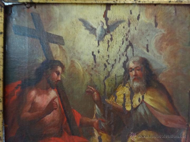 Arte: ÓLEO SOBRE LIENZO TRINIDAD ATRIBUIDO A J. ANTONIO ZAPATA Y NADAL 1762-1837 - 1000-071 - Foto 10 - 43145369