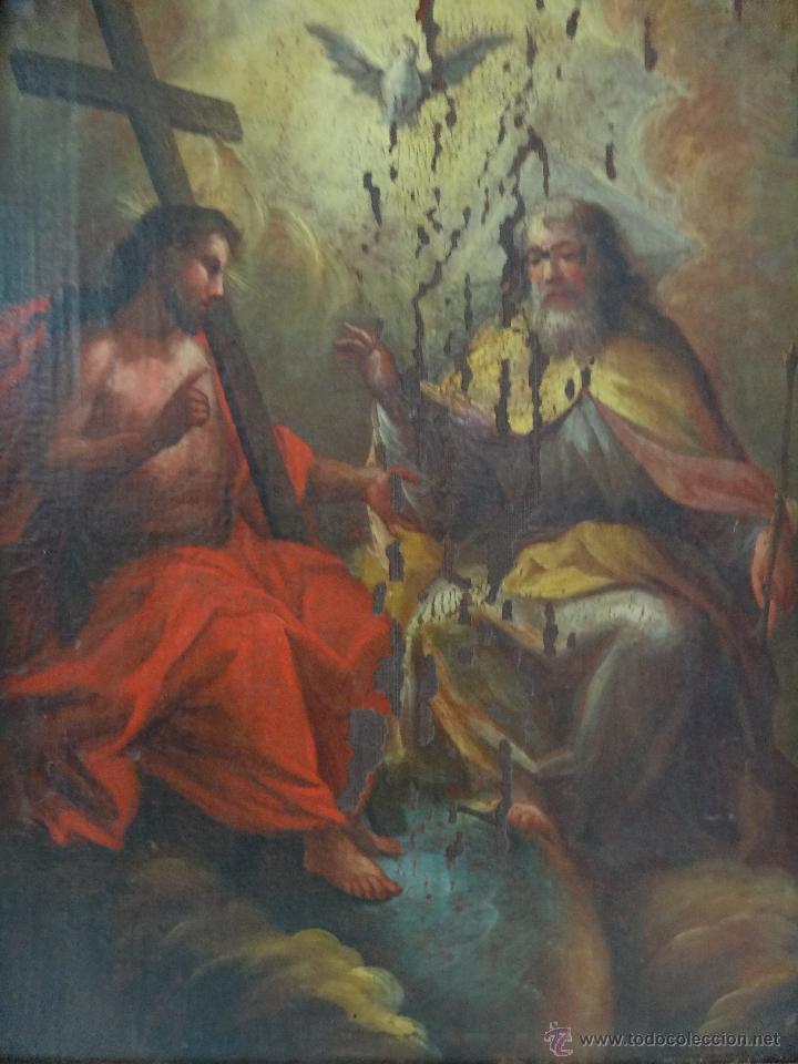 Arte: ÓLEO SOBRE LIENZO TRINIDAD ATRIBUIDO A J. ANTONIO ZAPATA Y NADAL 1762-1837 - 1000-071 - Foto 11 - 43145369