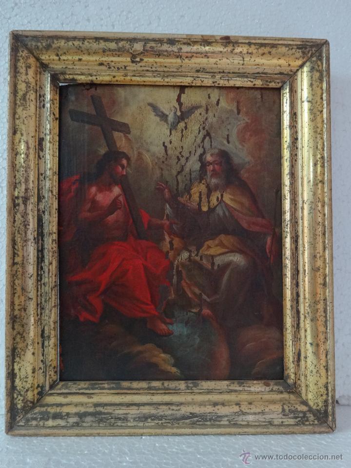 Arte: ÓLEO SOBRE LIENZO TRINIDAD ATRIBUIDO A J. ANTONIO ZAPATA Y NADAL 1762-1837 - 1000-071 - Foto 2 - 43145369