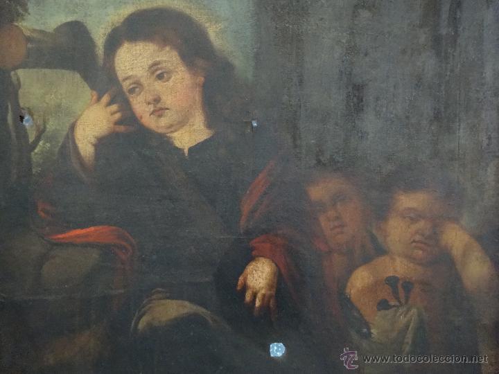 Arte: ÓLEO SOBRE LIENZO NIÑO DE PASIÓN SIGLO XVII - 1000-050 - Foto 9 - 43426843