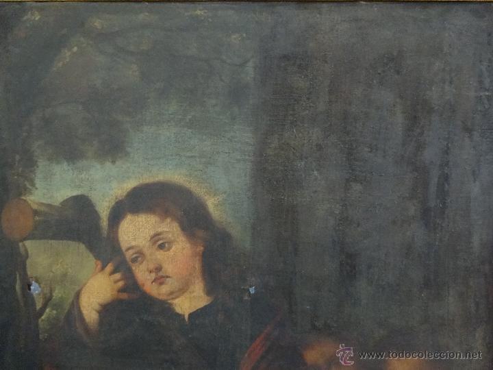 Arte: ÓLEO SOBRE LIENZO NIÑO DE PASIÓN SIGLO XVII - 1000-050 - Foto 10 - 43426843