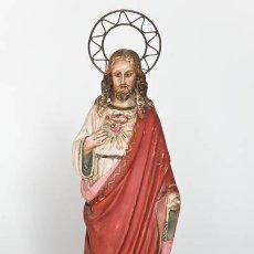 Arte: SAGRADO CORAZÓN DE JESUS, ESCULTURA DE OLOT. Lote 45523138